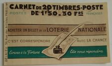 France superbe carnet 1 TIMBRE PÉTAIN N°517-C2 série 64  Incomplet Neuf 1942