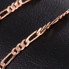 Solid Gold/Rose Gold Plated Necklace Women Men Unisex Snake Chain Long Necklace