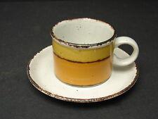 Vintage Midwinter Stonehenge SUN Mug & Saucer Stoneware Wedgwood