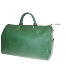 Auth LOUIS VUITTON Speedy 35 Travel Hand Bag Epi Leather Green M42994 32MA573