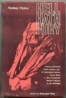 HELL HATH FURY ed. George Hay, 1963, book, sci fi, fantasy, Unknown Worlds, 1st