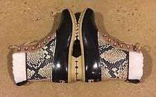 Sam Edelman Caldwell Women's Size 6 US Natural Snake Print Leather Duck Boots
