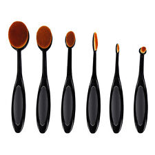 6pcs Oval Makeup Brushes Cream Puff Foundation Lip Cosmetics Power Blusher Tools
