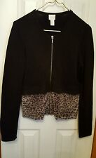 Chico's Black Two Tone Sweater.  Size 0