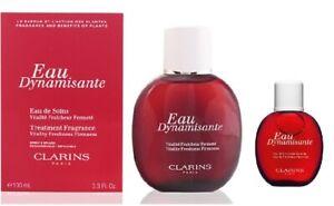 Clarins Eau Dynamisante Treatment Fragrance Set - New - 100 ml + 15 ml