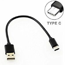 25cm Short Black USB Charging Cable Lead For Samsung Galaxy S8 S8+ (2017)