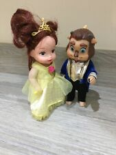 Disney Beauty And The Beast - Belle & Adam Toddler Dolls - 4.5 Inches