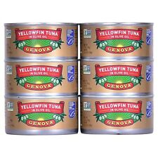 Genova Tonno Solid Yellowfin Tuna in  Olive Oil ~ 7 oz~ (6-PACK)