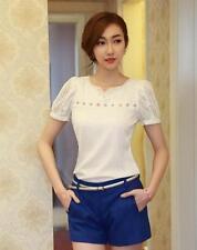 Unbranded Chiffon Short Sleeve Polka Dot Women's Tops & Blouses