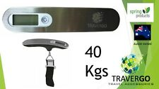 Digital silver LUGGAGE SCALE 40kgs/88lbs suitcase with strap inc battery