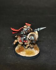 Warhammer lotr Middle Earth Iron Hills Dwarf Captain on Goat painted - B
