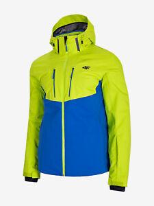 4F Pro Jacke Skijacke Herren Dermizax®, gelb blau, wasserdicht, atmungsaktiv