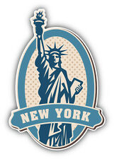 New York Statue Of Liberty Vintage Label Car Bumper Sticker Decal 3'' x 5''