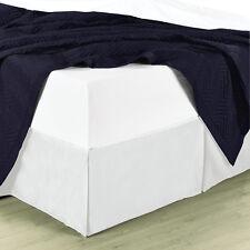 Hotel Split Corner Modest Cotton Solid 300 Tc Sateen Pleated Tailored Bed Skirt