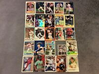 HALL OF FAME Baseball Card Lot 1977-2020 CHIPPER JONES TED WILLIAMS GREG MADDUX+
