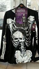 NUOVO adulto uomo donna tu Halloween Scheletro Travestimenti Costume L/XL