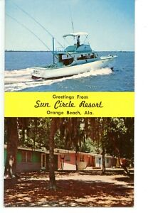 Sun Circle Resort-Orange Beach-Alabama-Vintage Advertising Postcard