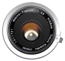 Topcon RE 5.8cm f3.5 Macro-Topcor   #1011761