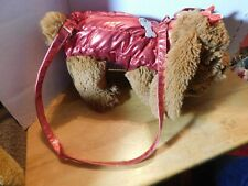 Bag~Poochie & Co. Doggy With Red Outfit Brown Child's Purse