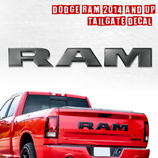 For 2014 & UP Large RAM Black Plastic Tailgate Letters Decal ABS Inserts