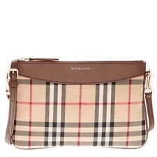 Burberry Women's Horseferry Check Peyton Clutch Bag Brown 3982489