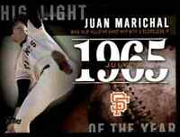 2015 TOPPS SERIES 2 HIGHLIGHT OF THE YEAR JUAN MARICHAL #H-15 INSERT
