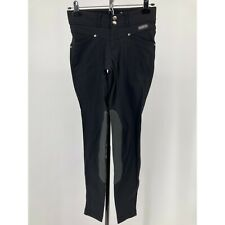 New listing Kerrits Womens Pants Riding Knee Patch Breeches Black Pockets Size XS
