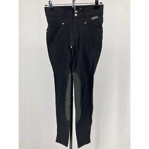 Kerrits Womens Pants Riding Knee Patch Breeches Black Pockets Size XS
