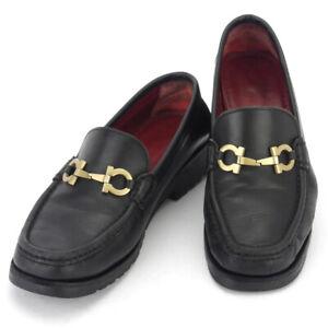 Salvatore Ferragamo loafers Ganchini leather Auth used T16889