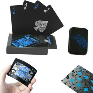 Creative Waterproof Plastic PVC Poker Magic Playing Cards Table Game Sets  Black