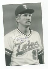 Autographed Photo of Twins Doug Corbett