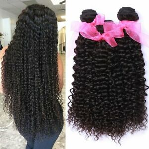 Unprocessed Peruvian Virgin Kinky Curly Human Hair Weaves curly hair extensions