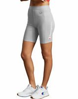 Champion Life Bike Shorts Women's Mid Rise Everyday Vertical Script Logo Sporty