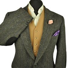 "Vtg Harris Tweed Tailored Country Hacking Jacket 44""  #741 SUPERB CLOTH COLOURS"