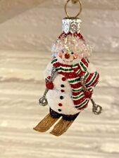 "Patricia Breen Snowman Ornament ""Telluride Snowman"" Skiing Snowman 2007"