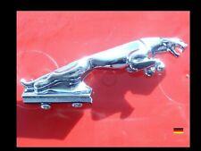 GROSSE Chrome Kühlerfigur badge Emblem leaper hood ornament bonnet mascot Jaguar
