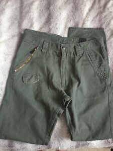 Diesel Mens Trousers Olive Green Size W34 Used