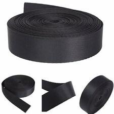 "1"" Inch 10 Yards Wide Black Nylon Heavy Webbing Strap Thick Knapsack Belt"