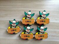 "The Simpsons Krusty The Clown eatn acid LSD doses ""L"" $1 lapel hat pin tripping"
