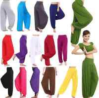 Women Harem Genie Aladdin Causal Gypsy Dance Yoga Pants Trousers Baggy Rompers