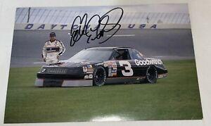 Dale Earnhardt Sr NASCAR 7X CHAMP HOFer 1990 autographed 5x7 HERO photo #3