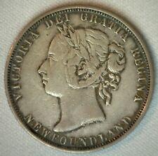 1882 H Canada Newfoundland 50 Cents Silver XF 50c Coin Extra Fine Half Dollar