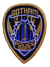 "DC Comics Batman Gotham Police Department Shield 3 1/4"" Tall Embroidered Patch"