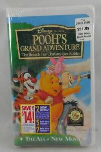 New Disney Pooh's Grand Adventure Search For Christopher Robin VHS Movie Sealed
