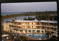 1962 kodachrome photo slide Three Crowns Hotel  Sarasota Fl  #2  FL21