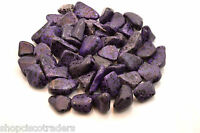 Ten Purple Dalmatian Jasper Tumbled Stones Dyed 25- 30mm Reiki Healing Crystal