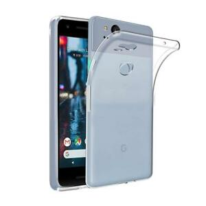 For Google Pixel 2 Clear Gel Case Back Slim Cover Silicone TPU