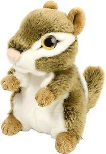 """Wild Republic Wild Watchers Chipmunk Soft Cuddly Toy 18cm (7"""") High NEW"""