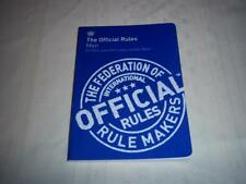 The Official Rules Men - The Federation of rule makers International rules Book