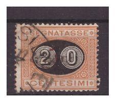REGNO 1890 - SEGNATASSE  Cent. 20 su 1    usato